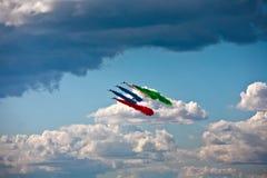 Salón aeronáutico en un día de verano Fotografía de archivo libre de regalías