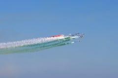Salón aeronáutico espectacular en Italia Fotografía de archivo libre de regalías