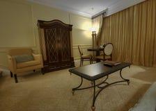 Salón clásico con la butaca y el vector Foto de archivo libre de regalías