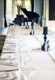 Salón con el piano Fotografía de archivo