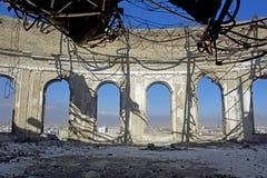 Salón de baile en Darul Aman Palace, Afganistán Imagen de archivo libre de regalías