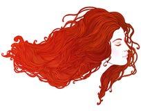 Salón de belleza: Retrato de la mujer bastante joven en ingenio de la opinión del perfil