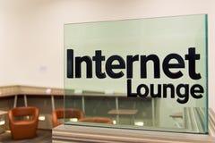 Salón de Internet foto de archivo