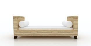 Salón de lámina de la calesa del banco del brazo stock de ilustración