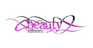 Salón de la belleza e insignia de la manera Imagenes de archivo