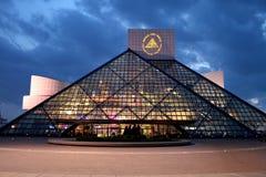 Salón de la fama del rock-and-roll Imagenes de archivo