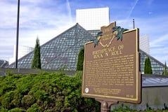 Salón de la fama del rock-and-roll fotografía de archivo