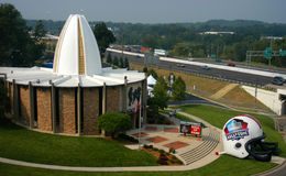 Salón de la fama en cantón, Ohio del NFL imagen de archivo libre de regalías