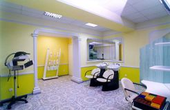 Salón de la peluquería Fotos de archivo libres de regalías
