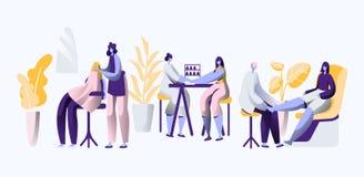 Salón de lujo de la belleza El estilista profesional hace la uña y pelo de moda, elegancia y hermoso para la mujer cosmético stock de ilustración