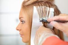 Salón de pelo. El colorear. Imágenes de archivo libres de regalías