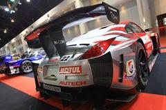 Salón del auto de Bangkok del coche deportivo de Nissan 350Z GT3 Foto de archivo libre de regalías