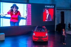 Salón del automóvil 2017 coche de LYNK de Shangai y del CO 01 Foto de archivo libre de regalías