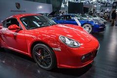 Salón del automóvil, coches de deportes de Ferrari imagen de archivo libre de regalías