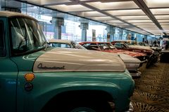 Salón del automóvil internacional norteamericano 2018 foto de archivo