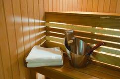 Salón del balneario de la sauna Imagen de archivo