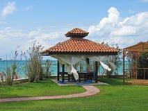 Salón del balneario en la playa Fotografía de archivo libre de regalías