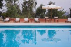 Salón del Pool-side Imagenes de archivo
