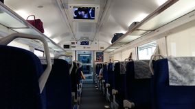 Salón del tren de alta velocidad foto de archivo libre de regalías