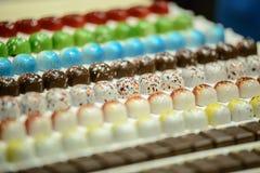 Salón du chocolat de la demostración del chocolate Imagen de archivo libre de regalías