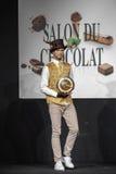 Salón du chocolat de la demostración del chocolate Imagen de archivo