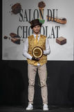 Salón du chocolat de la demostración del chocolate Fotos de archivo