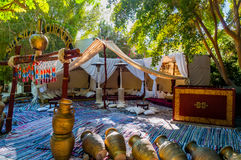 Salón egipcio típico Imágenes de archivo libres de regalías