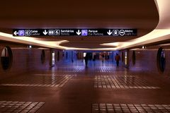 Salón en aeropuerto Foto de archivo