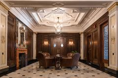 Salón en Art Deco Style imagenes de archivo