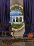 Salón y ventana libre illustration