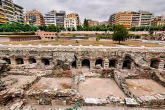 Salónica, ágora antiguo, Grecia Imagen de archivo