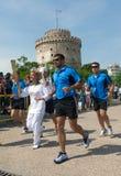 Salónica da la bienvenida a la antorcha olímpica Fotografía de archivo libre de regalías