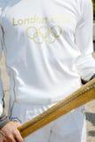 Salónica da la bienvenida a la antorcha olímpica Foto de archivo