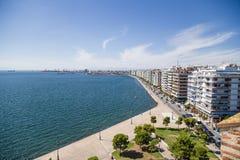 Salónica, Grecia terraplén Imágenes de archivo libres de regalías