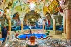 Salões de chá em Kerman, Irã imagens de stock