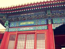 Salões dos pavilhões do palácio de verão do Pequim Fotografia de Stock