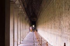 Salões longos de Angkor fotografia de stock royalty free