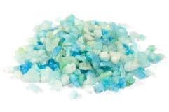 Sal azul do mar para termas Fotos de Stock
