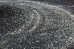 Sal da estrada para a neve de derretimento do gelo Fotos de Stock