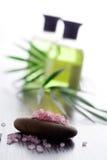 Sal de baño rosada imagen de archivo libre de regalías
