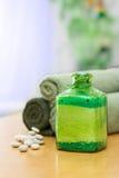 Sal de baño verde Imagen de archivo