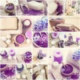 Sal de baño y jabón fotos de archivo libres de regalías
