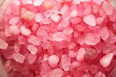Sal de banho cor-de-rosa Fotos de Stock