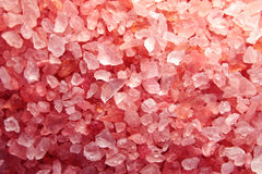 Sal de banho cor-de-rosa Fotografia de Stock