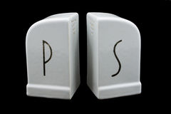 Sal de Deco y coctelera angulosas de Peppr fotografía de archivo libre de regalías
