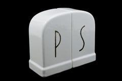 Sal de Deco y coctelera de Peppr imagen de archivo