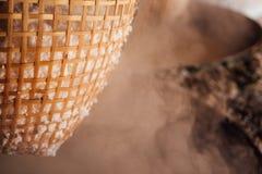 Sal de rocha que faz a indústria Fotos de Stock Royalty Free