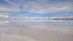Sal de Uyuni liso - Bolívia Imagens de Stock Royalty Free