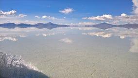 Sal de Uyuni plana - Bolivia Foto de archivo libre de regalías
