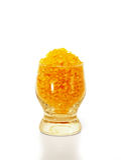 Sal del mar de Fragranced en un vidrio. Imagen de archivo